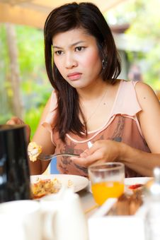 Free A Girl Look Serious During Her Food Stock Photos - 22095393