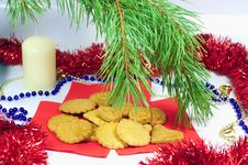 Free Traditional Christmas Ginger Cookies Royalty Free Stock Image - 22095956