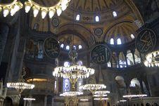 Free Interior Of Hagia Sofia Stock Images - 22096624