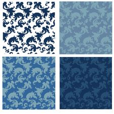 Free Collection Of Seamless Patterns Royalty Free Stock Photo - 22096785