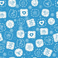 Free Seamless Winter Pattern2 Stock Photos - 22096803