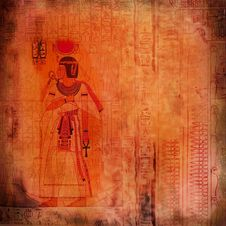 Free Egyptian Ancient Art Red-orange Texture Royalty Free Stock Photography - 22097847