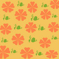 Free Orange Flowers Gift Wrap Stock Image - 2212481