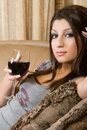 Free Women Drinking Wine Royalty Free Stock Photos - 2216398