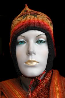 Free Mannequin Wearing  Alpaca Hat Royalty Free Stock Photo - 2210535