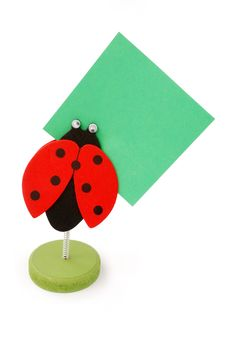 Free Ladybird Memo-holder Royalty Free Stock Image - 2210536