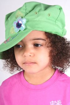 Free Girl In Green Hat Stock Photos - 2211403
