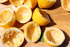 Free Squeezed Lemons Stock Image - 2211511