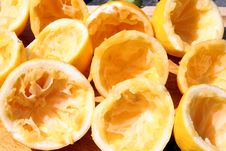 Free Squeezed Lemons Stock Images - 2211514