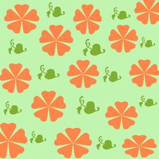 Free Orange Flowers Gift Wrap Royalty Free Stock Image - 2212476