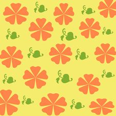 Free Orange Flowers Gift Wrap Royalty Free Stock Photos - 2212478