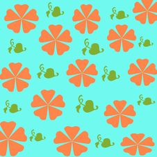 Free Orange Flowers Gift Wrap Stock Photography - 2212482