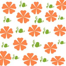 Free Orange Flowers Gift Wrap Stock Photos - 2212483