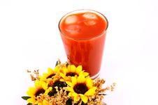 Juice Tomato Royalty Free Stock Photos