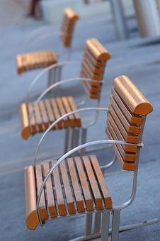 Modern Designed Bench Royalty Free Stock Image