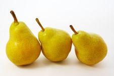 Free Three Yellow Pears Royalty Free Stock Photos - 2214888