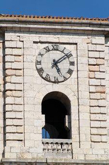 Free Clock And Balcony Royalty Free Stock Photos - 2214938