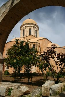 Monastery Agia Triada, Crete Stock Photography