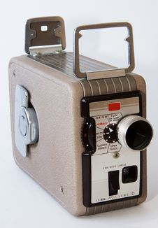 Free Old Handheld Movie Camera Stock Image - 2216171