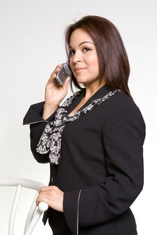 Free Women In Cellphone Royalty Free Stock Image - 2216366
