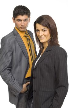 Two Business Persons Royalty Free Stock Photo
