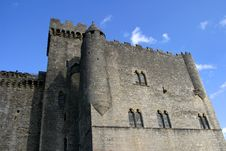 Beynac Castle And Blue Sky Stock Photography