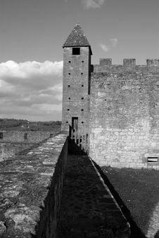 Free Beynac Castle Tower Stock Image - 2219011