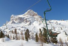 One-man Chairlift Stock Images