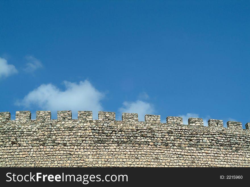 Medieval castle walls