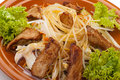 Free Fried Noodles With Beef And Vegetables Stock Image - 22105861