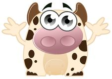 Free Cute Cow Royalty Free Stock Photography - 22100297