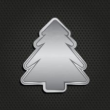Free Metallic Christmas Tree Background Royalty Free Stock Images - 22101399