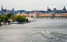 Free Panorama Of Stockholm City In Autumn Day Royalty Free Stock Photos - 22102168