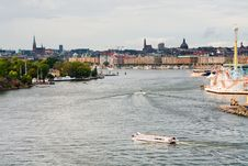 Free Panorama Of Stockholm City In Autumn Day Royalty Free Stock Photo - 22102185