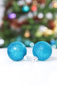Free Two New Year S Ball. Stock Image - 22104321
