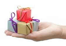 Free Gift Boxes Royalty Free Stock Photography - 22105067
