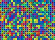 Free Abstract Multicolor Squares  Background Stock Image - 22105401