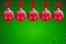 Free A Red Christmas Ball Royalty Free Stock Photography - 22109447