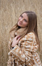 Free Girl In A Fur Coat Royalty Free Stock Images - 22115429