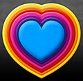 Free Rainbow Heart Stock Images - 22119364