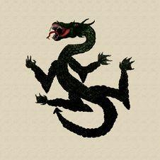 Free Illustration Of Dragon Royalty Free Stock Photography - 22110287