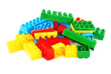 Set Of Color Building Blocks Royalty Free Stock Images