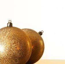 Free Golden Christmas Balls Stock Image - 22115181