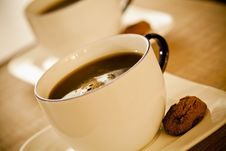 Free Two Coffee Cups And Cookies Stock Photography - 22115352
