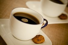 Free Warm Coffee And Cookies Royalty Free Stock Image - 22115506