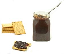 Jar And Biscuits Royalty Free Stock Photography