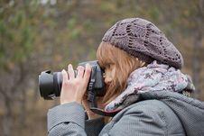 Free Girl With Camera Stock Photos - 22116003
