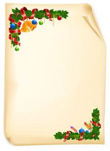 Free Christmas Angle Garland Card Stock Images - 22116654