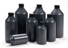 Free Black Plastic Bottle Royalty Free Stock Photo - 22118065