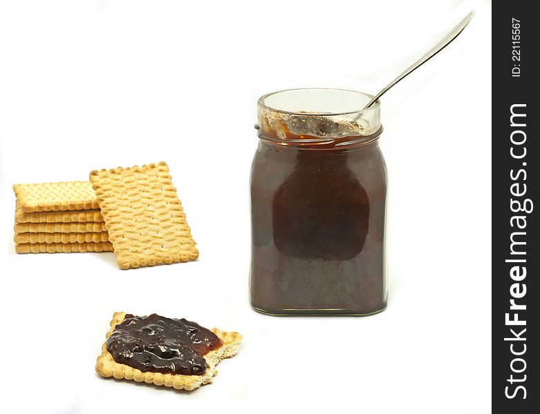Jar and biscuits